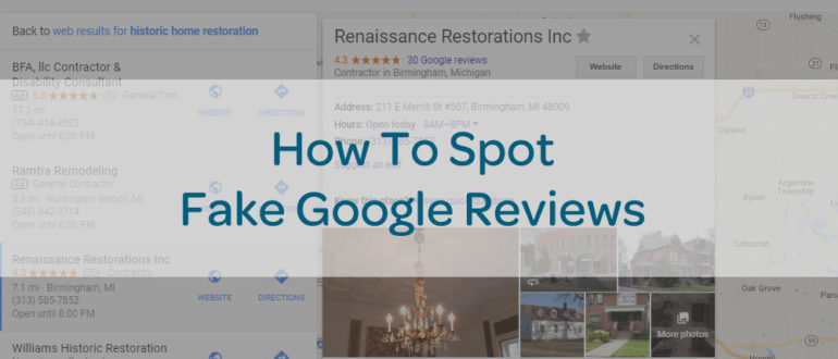 how to spot fake google reviews